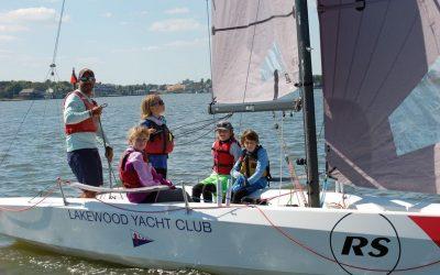 Lakewood Yacht Clubs Junior Sailors Enjoying RS21 Sailing.